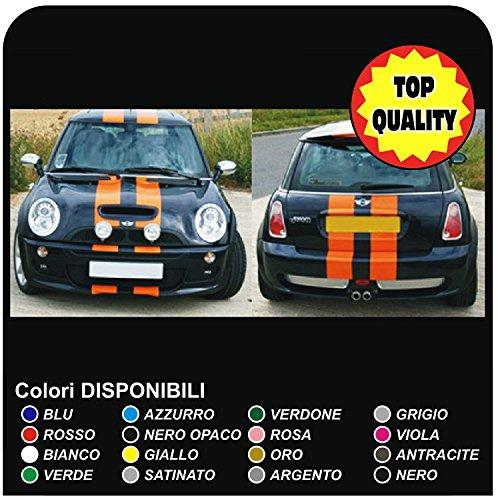 Aufkleber Kit Streifen ONE KIT alle Modelle stickers decals tuning racing (SCHWARZ MATT)