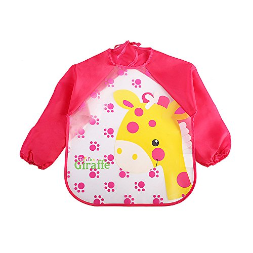 Colorful Baby Bibs Long Sleeve Art Apron Smock Children Bib Burp Clothes Soft Feeding Eat Toddle Waterproof