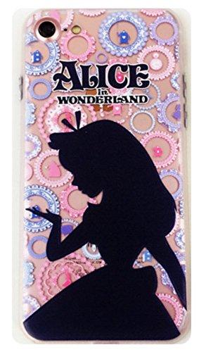 Phone Kandy Carcasa de Gel de Silicona Suave Transparente Esmerilado de Alicia en el país de Las Maravillas (FA01), Type #3, iPhone 6 Plus