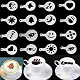 Cappuccino Kaffee Schablonen Vorlage Strew Blumen Pad Duster Spray Festliche