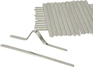 JWMY アルミ材質 形状保持アルミ芯材 ノーズワイヤー 自由に折れる DIY用品 形状保持テープ 長さ8.5cm 幅5mm 50個セット