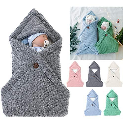 Petyoung Neugeborene Wickeldecke Weiche Dicke Baumwolle Baby Mädchen Jungen Kinderwagen Wraps Gestrickt Warmen Umschlag Schlafsack