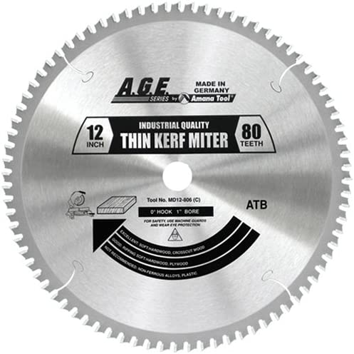 "wholesale A.G.E. online sale Series - Thin Miter 12"" X 80T Atb 1"" Bore outlet online sale (MD12-806) outlet sale"
