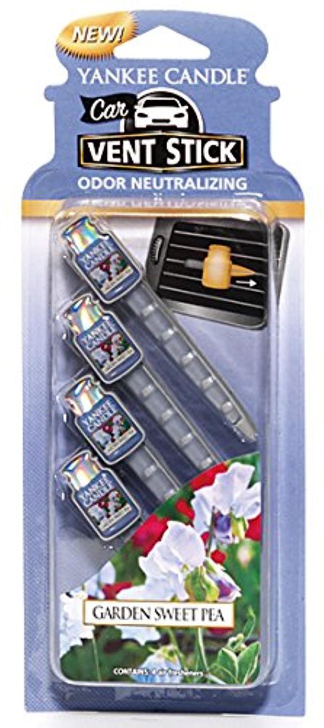 船酔いまぶしさめんどりヤンキーキャンドル カーフレグランススティック(4本入り) スイートピー YANKEECANDLE 車のエアコン部分につけるフレグランスアイテム