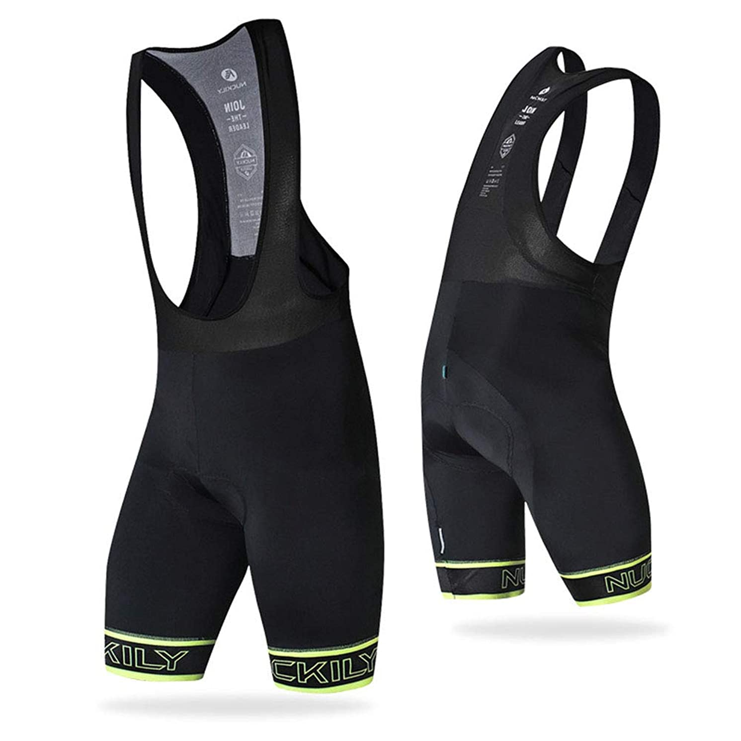 Bib Cycling Shorts,Mens Padded Cycling Shorts,Cycling Shorts with Non-Slip Design, Breathable, Lightweight,Summer