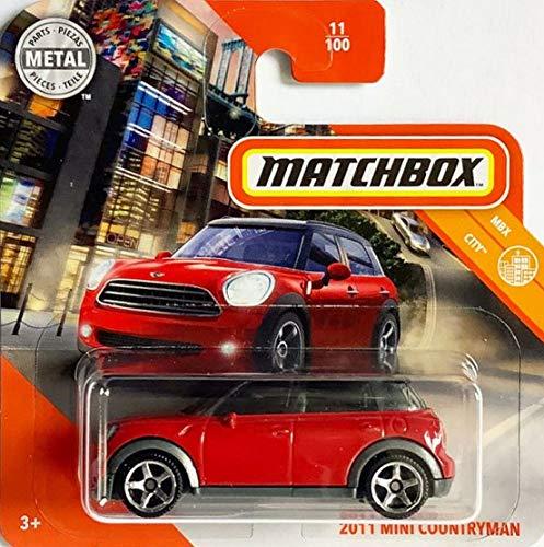 Matchbox* Mini Countryman 2011 - Coche de juguete (escala 1:64), color rojo y negro
