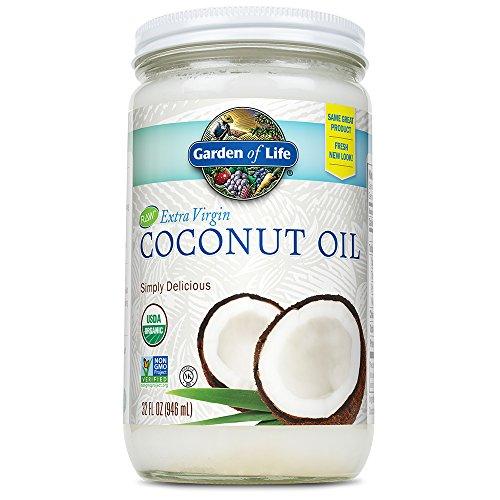 Garden of Life Organic Unrefined Extra Virgin Coconut Oil - Healthy Vegan Cooking Oil, 32oz...
