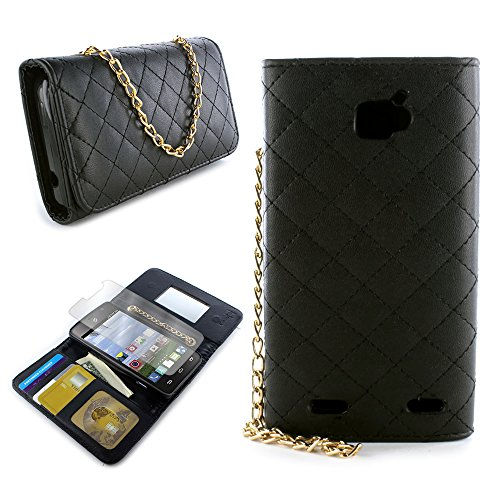 CoverON for ZTE Zephyr/Paragon Wallet Case [ClutchCase Series] Soft Flip Credit Card Phone Cover Purse Pouch with Screen Protector - (Black)