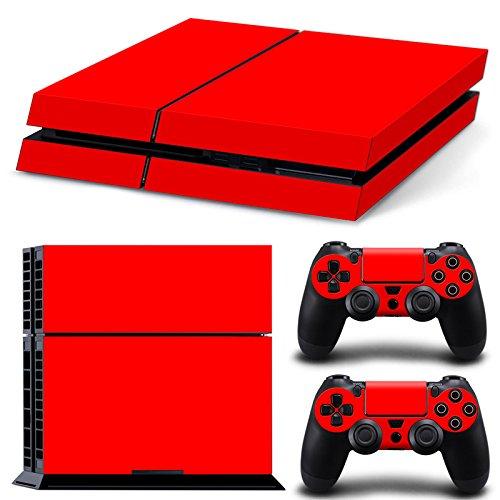 Mcbazel Calcomanías de la Serie Pattern Pegatinas de Vinilo Solo para PS4 original No para PS4 Slim / Pro (Rojo)