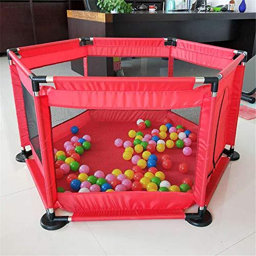 Children's Box Voor Kinderen Pool Ballen Voor Pasgeboren Baby Fence Box Voor Baby Pool Kids Safety Barrier Play Yard,Red