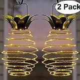 Vingtank Ananas Solar Lampe, Garten Dekoration Solarlicht Laterne Wasserdichte Hängeleuchten