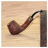 Tuyau de cigarette importé italien marque Shi Nanmu fait à la main en bois naturel...
