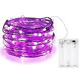 Guirnalda de luces Bolweo de 3m con 30 luces LED, Morado, 1 pack