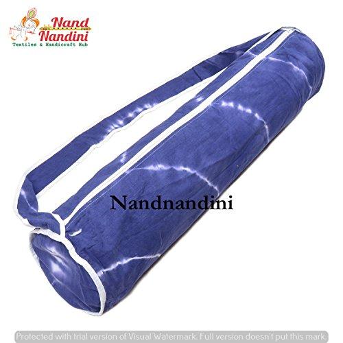 NANDNANDINI TEXTILE - Indian Hippie Sibori Tie And Die Mandala Yoga Mat Bag Handgemaakte Tas, Schoudertas, Boho Bohemian Tapestry Yoga mat Draagtas Gym Bag