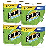 Bounty Quick-Size Paper Towels, White, 8 Family Rolls = 20 Regular Rolls