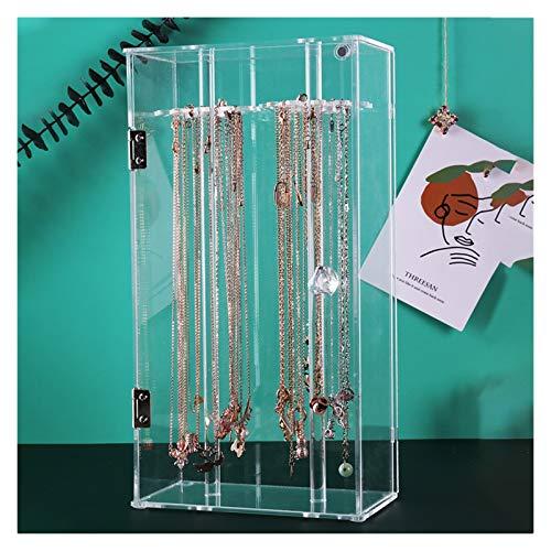 zjyfyfyf Organizador de joyería Caja de Almacenamiento de joyería de joyería de joyería de acrílico Transparente para niñas y Regalo de Mujer