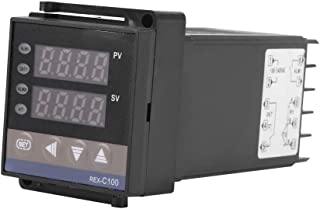 Cyfrowy regulator temperatury PID, termostat REX-C100, termopara, regulator termostatu, napi?cie robocze 100-240V