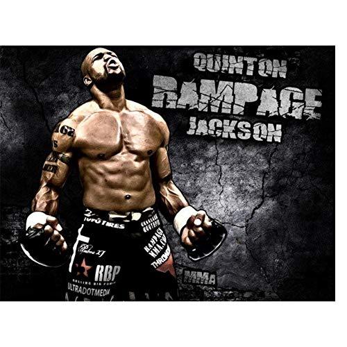 suuyar Rampage Jackson MMA Mixed MartialPoster Licht Leinwand Wohnzimmer Schlafzimmer Dekoration Leinwand Gemälde Druck auf Leinwand-60x80cm No Frame