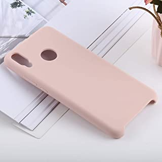 Phone Shell Solid Color Liquid Silicone Shockproof Case for Huawei Honor 8X(Black) (Color : Pink)