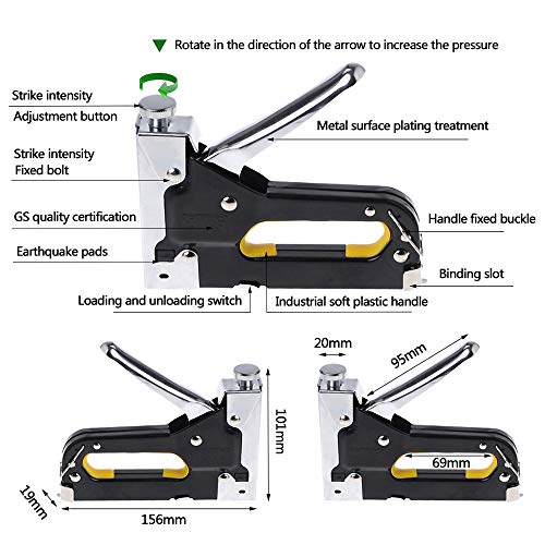 3 in 1 Heavy Duty Staple Gun with Staple Remover, Hand Operated Stainless Steel Stapler Brad Nail Gun, Furniture Stapler, Upholstery Staples, Upholstery Gun, 1050 Staples Attached Photo #3
