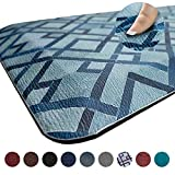Anti Fatigue Comfort Floor Mat by Sky Mats -Commercial Grade Quality Perfect for Standup Desks, Kitchens, and Garages - Relieves Foot, Knee, and Back Pain (20x39x3/4-Inch, Blue Diamonds)
