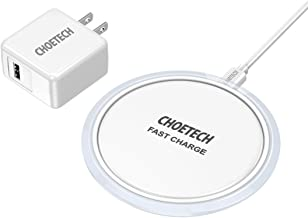 CHOETECH Wireless Charger, 7.5W Wireless Charging Pad Compatible with iPhone 11/11 Pro/11 Pro Max/XS Max/XR/XS/X/8/8 Plus, 10W Charge Galaxy Note 10/S10/S10+, New AirPods (QC3.0 AC Adapter Included)