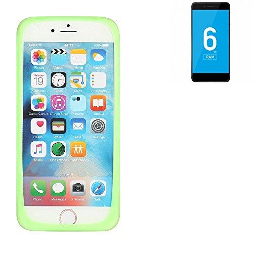K-S-Trade® Für Vernee Mars Pro 4G Silikonbumper/Bumper Aus TPU, Grün Schutzrahmen Schutzring Smartphone Case Hülle Schutzhülle Für Vernee Mars Pro 4G