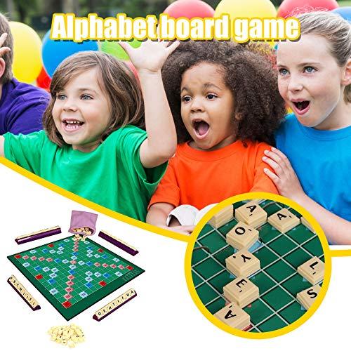 Scrabble Original Spiel, Scrabble-Brettspiel, Reise-Scrabble-Buchstaben zum Basteln, Original-Brettspiel für Familien, Scrabble-Deluxe-Brettspiel