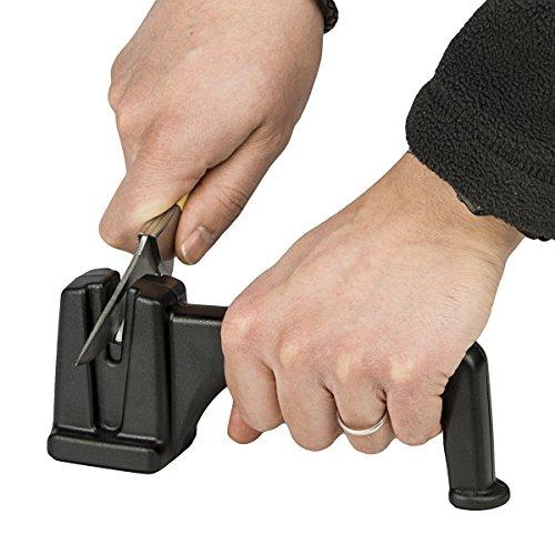 Walther Ceramic Messerschärfer mit Handgriff in Schwarz