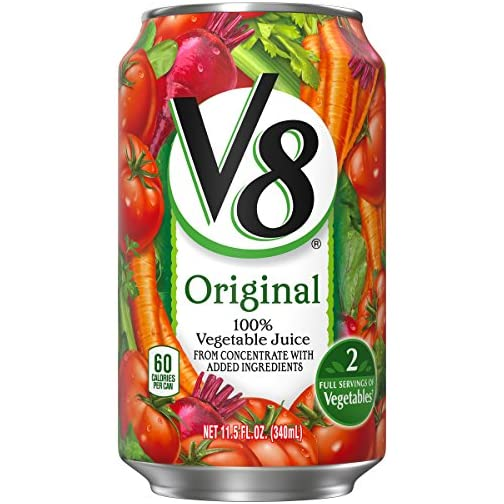 V8 Juice, Original 100% Vegetable Juice, Plant-Based Drink, 11.5 Ounce Can (Pack of 24) 4