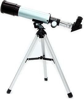 NUZAMAS Telescopio astronómico para refractor de ciencias educativas con trípode superligero para principiantes de astrono...