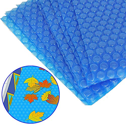 Cobertor solar para piscinas Cubierta de Burbujas para Bañera de Hidromasaje, Cubierta de Piscinas de Aislamiento Burbujas con Edge Punching, Fantástica Manta Solar para Piscinas Rectangulares