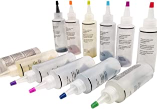 12 Bottles One-Step Tie-Dye Kit,Fabric Textile Paints Colorful Tie Dying Sets, Muti-Color Dyes Permanent Paint for DIY Arts Clothes Fabric