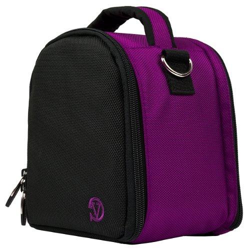 Protective Slim Compact Travel Case (Purple) for Nikon Coolpix L120, V1, P100, P500, P7000, P7100, D3800, D800 Digital DSLR Professional Camera