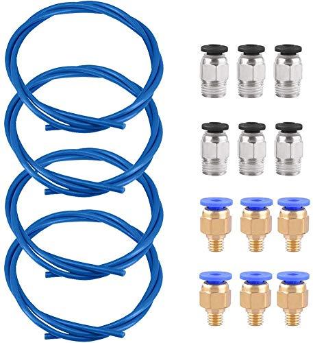 puissant Tube Lesai PTFE Téflon, 6 raccords rapides PC4-M6 et 4 tubes téléphoniques bleus de 1,5 mètre…