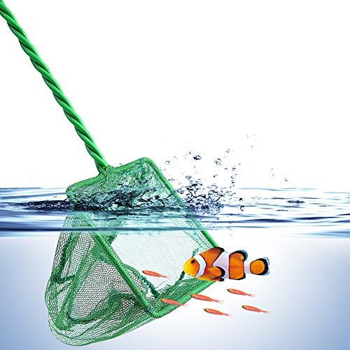 WPCASE Aquarium Kescher Aquarium Scheibenreiniger Fischernetz Forelle Childs Fischernetz Tropische Aquarium-Zusätze Teichnetz Kescher zum Angeln 32cm