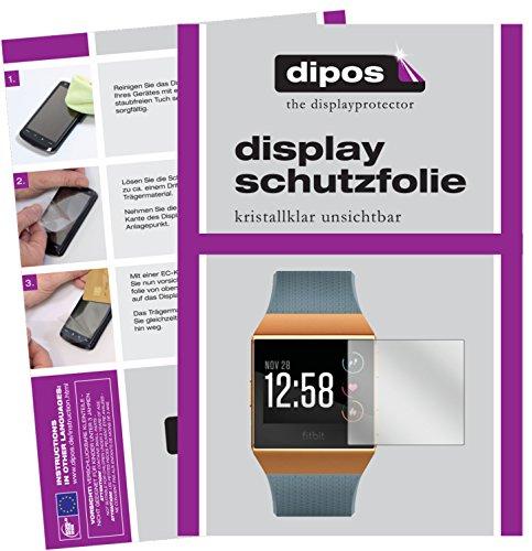 dipos I 6X Schutzfolie klar kompatibel mit Fitbit Ionic Folie Displayschutzfolie