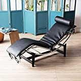 Pumpumly Le Corbusier LC-4 Style Replica Chaise Lounge Chair Mid Century Modern