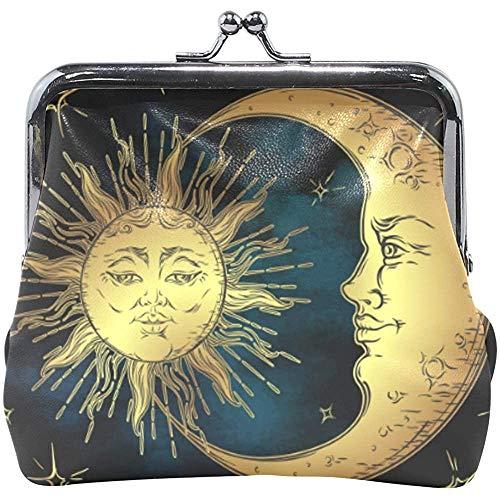 Boho Chic Golden Sun Moon Stars Monedero Lindo Monedero...