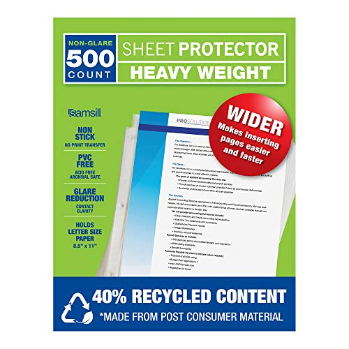 Archival Recycled Sheet Protector - 2