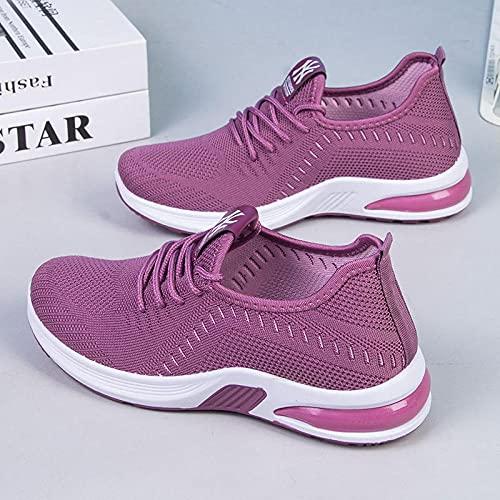 Aerlan Men's and Women's Sports Shoes,Zapatos de Mujer Calzado Deportivo Transpirable Senderismo Senderismo Zapatos-Violeta_36,Zapatillas con Suela pisada