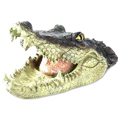 OMMO LEBEINDR Gefälschte Krokodil-Kopf wasserdichte Simulation Alligator Open Mouth Kopf