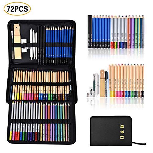 Cozywind 72pcs Lápices de Colores Profesional Lapices Dibujo Artístico...