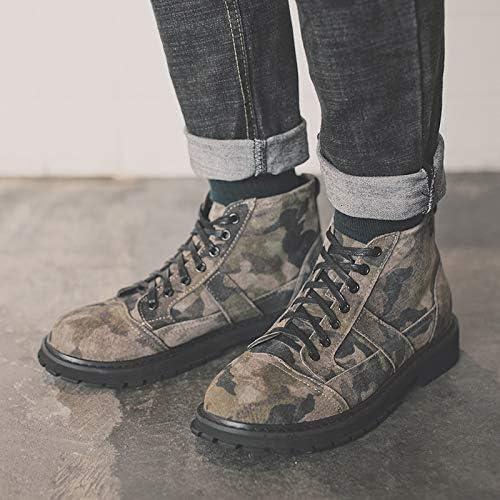ZyuQ Bottes pour hommes Hommes Martin Bottes Haut pour Camouflage Outillage Bottes PU Hommes PU Chaussures Hommes Chaussures Décontractées Bottes Haute Chaussures