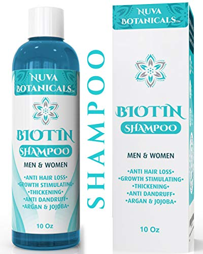 Nuva Botanicals Biotin Shampoo For Hair Growth – Natural Thickening Treatment For Hair Loss and Thinning – Stimulate Thicker Regrowth - Sulfate Free & Paraben Free – For Women and Men