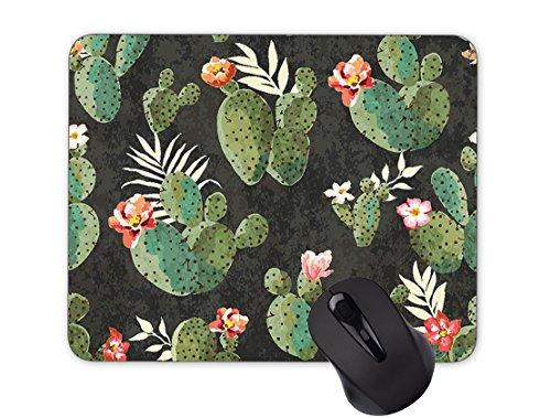 Seamless Plant Cactus Flower Mouse Pad Anti-Slip Mouse Pad Office Mouse Pad (240mm x 200mm x 3mm)