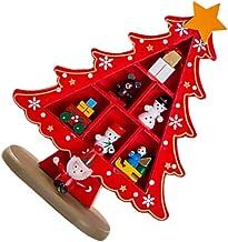 KESYOO Desktop Wooden Christmas Tree Decor Christmas Toy Set with Mini Ornaments Mini Christmas Tree Desktop Tabletop Deco...