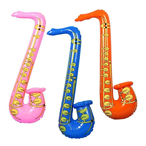 Shatchi 4 x große aufblasbare Musikinstrumente zum Aufblasen, Spielzeug, Luftballons, Junggesellinnenabschied, Junggesellinnenabschied, Kostüm, Partyzubehör, Rockstar-Spielgeschenke, Mehrfarbig