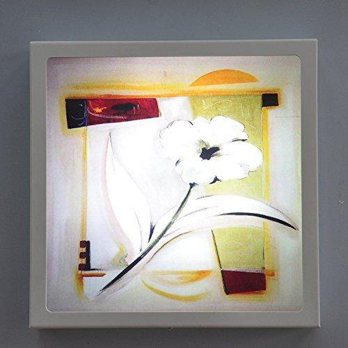 HHCH LED-wandlamp, wandlamp, decoratief, abstract, dode natuur, bloemenmotief, 12 W, retro-wandlamp