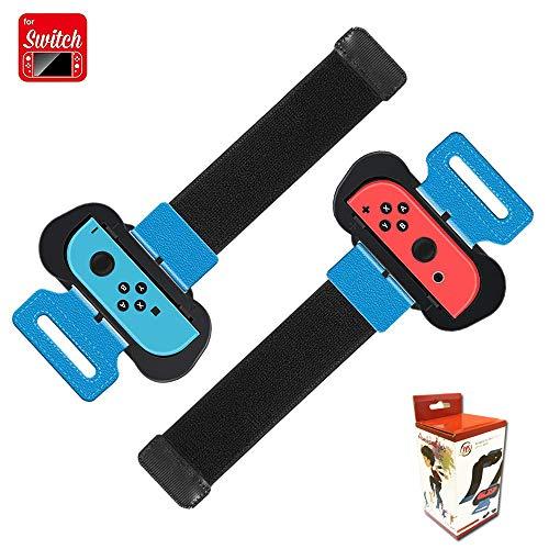 Coltum Armband Joy Con Grip kompatibel für Nintendo Switch Just Dance 2019 2020/Mario Tennis Ace/Fitness Boxing,Einstellbare Elastische Joy Con Handgelenksband Tanzgriff Grips (2er Pack)